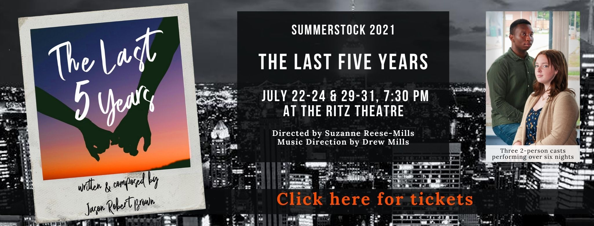 The Last Five Years play banner - Click for info and tickets