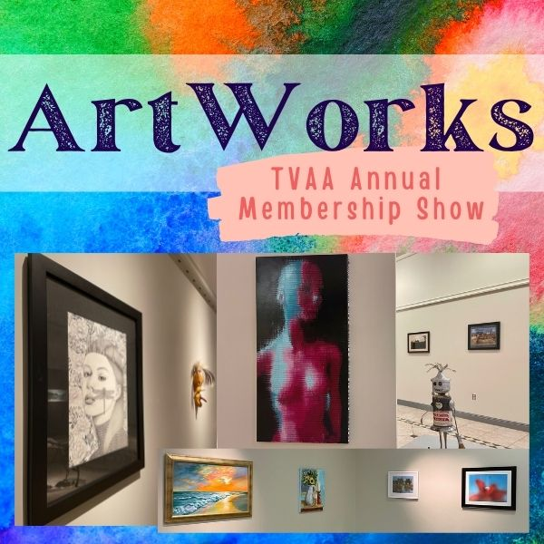 ArtWorks logo with photos from the exhibition