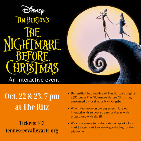 Nightmare Before Christmas image with event info